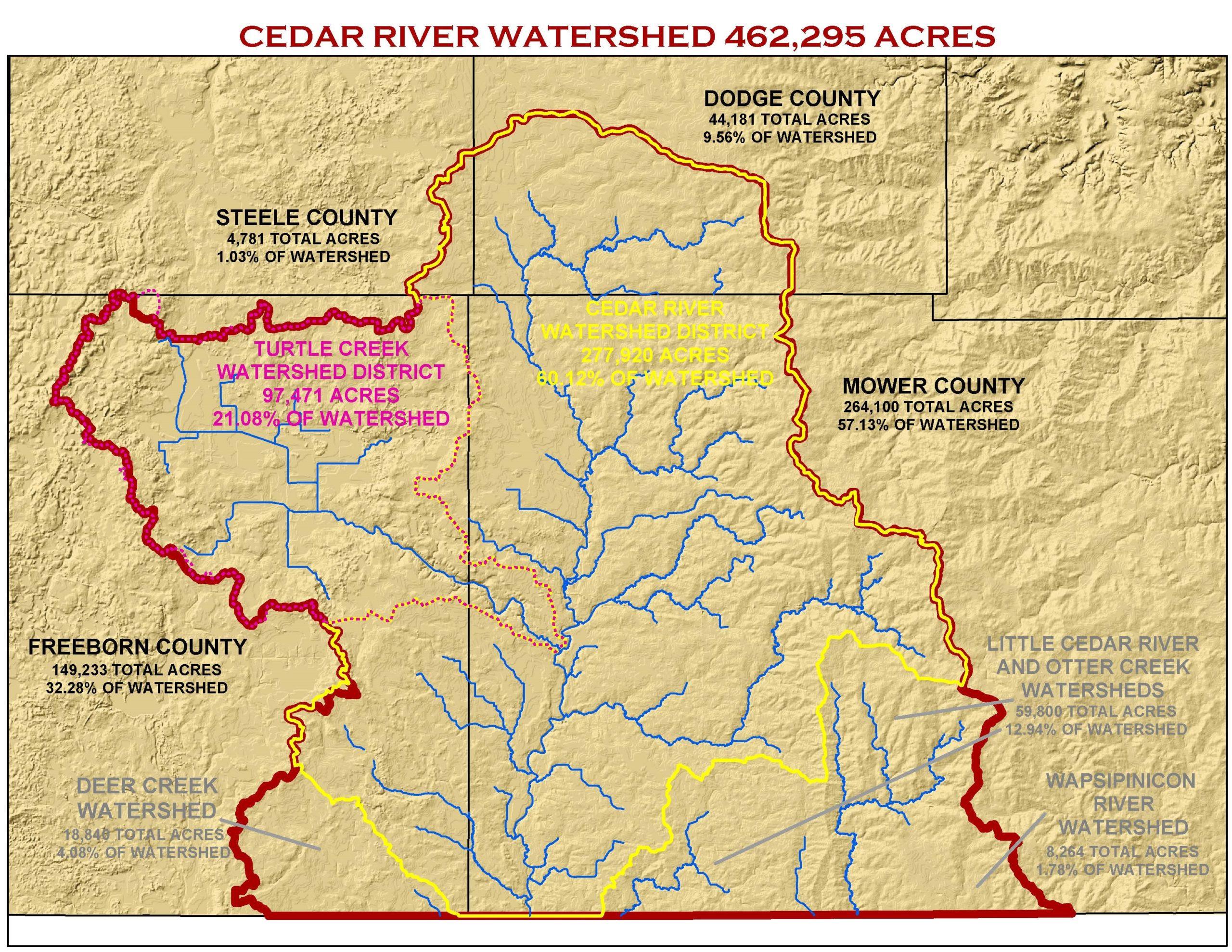Cedar River 1W1P map