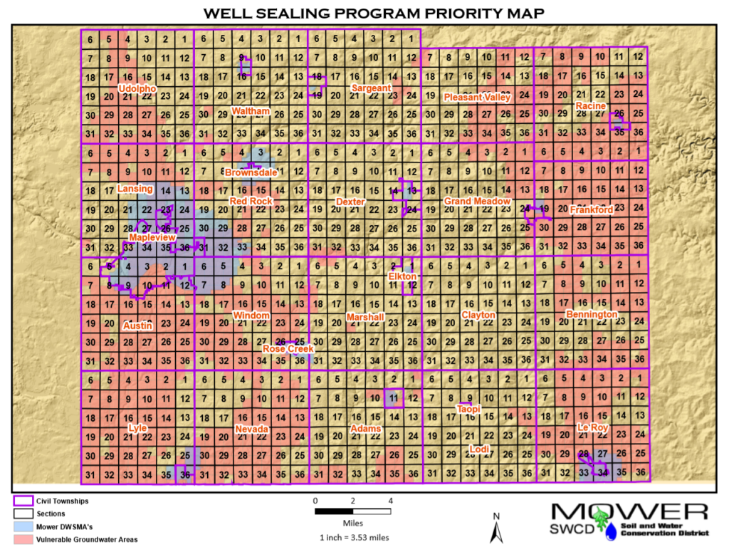 MAP well sealing program Mower County 2019-2020