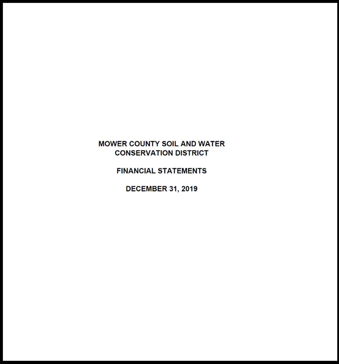 2019 Mower SWCD audit