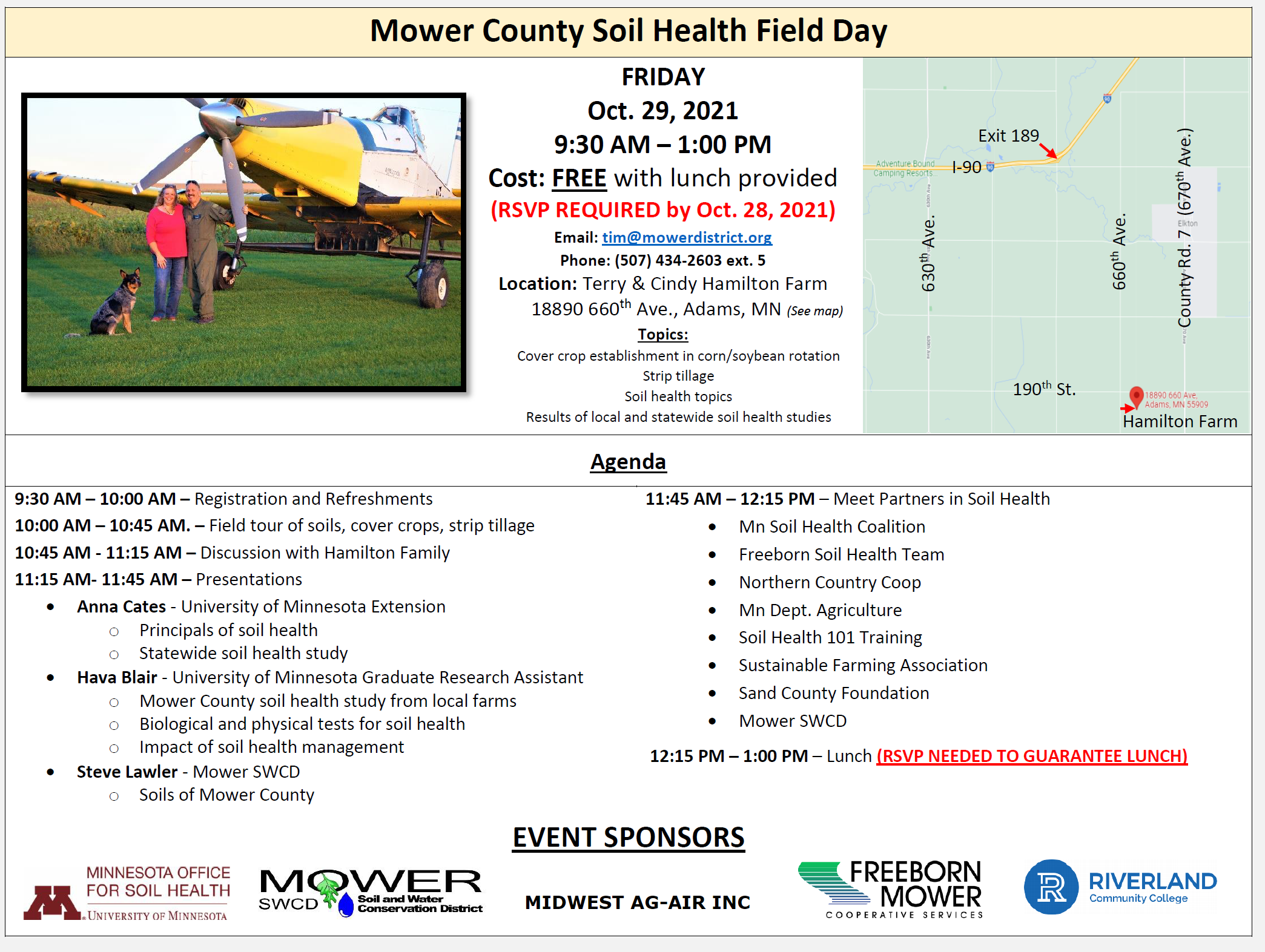 Field Day on  cover crops and soil health